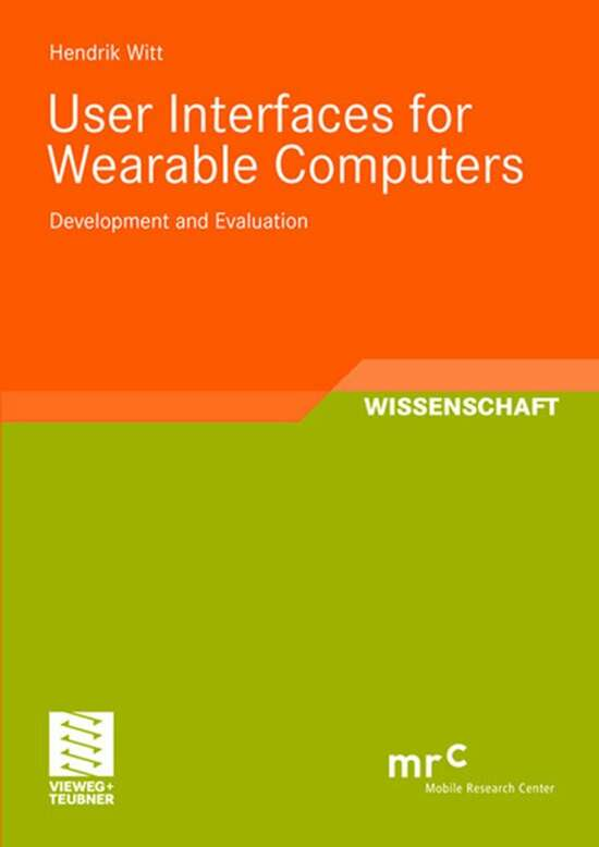 User Interfaces for Wearable Computers