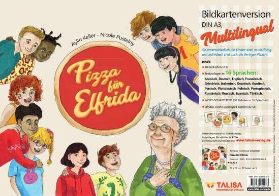 Pizza für Elfrida - Bildkartenversion (A3, Multilingual)