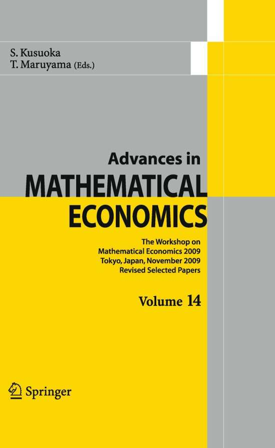 Advances in Mathematical Economics Volume 14