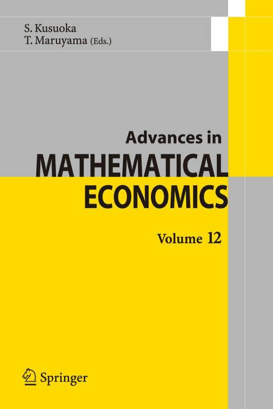 Advances in Mathematical Economics Volume12