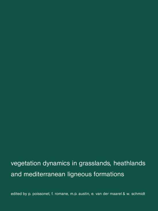 Vegetation dynamics in grasslans, heathlands and mediterranean ligneous formations