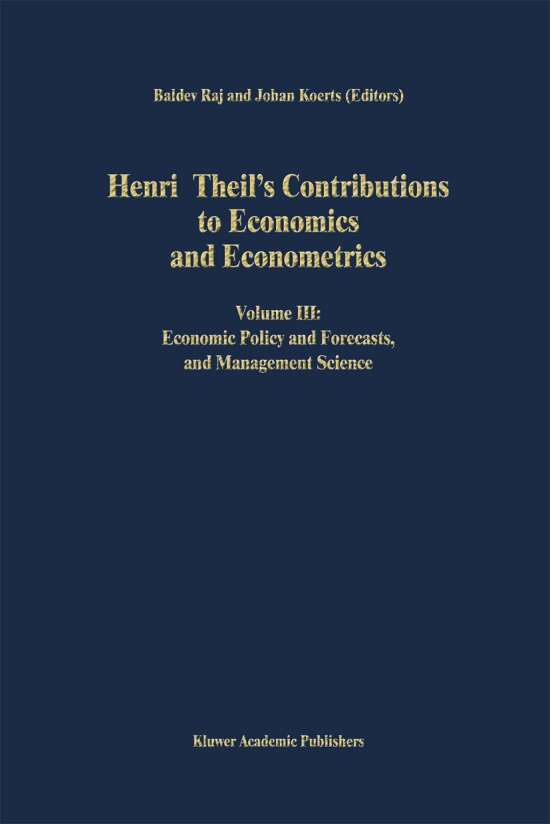 Henri Theil's Contributions to Economics and Econometrics