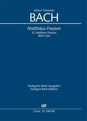 Matthäus-Passion (Klavierauszug deutsch/englisch)